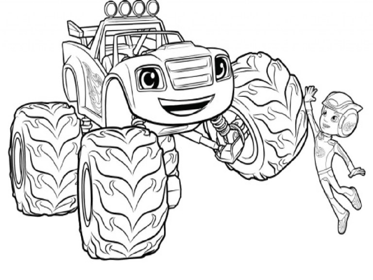 Blaze Coloring Pages To Print