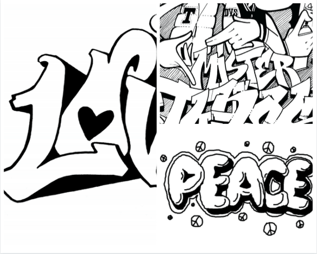 Collection Graffiti Coloring Pages