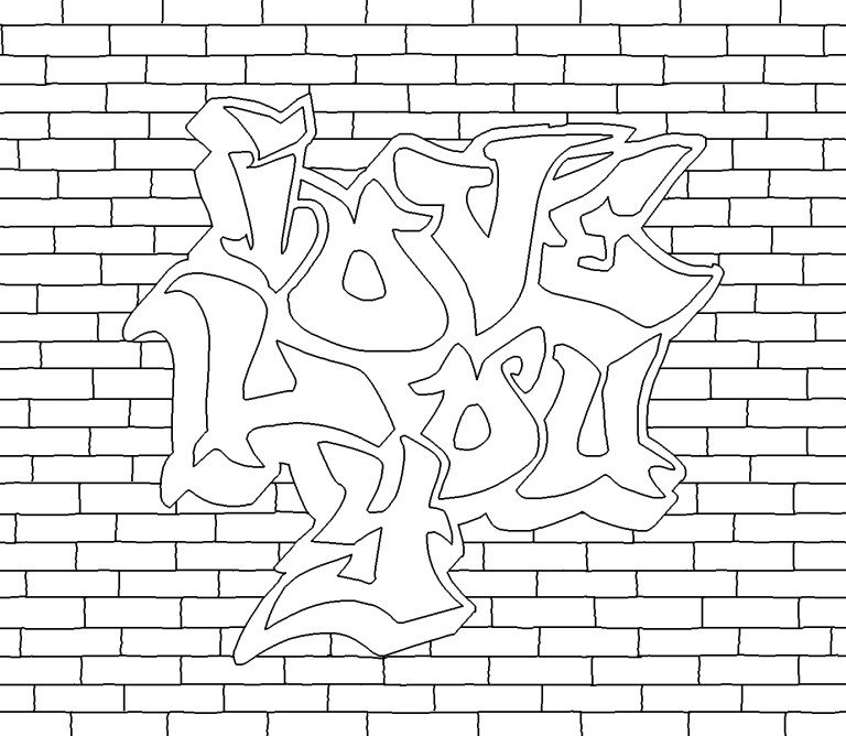 Graffiti Coloring Pages Idea for Children