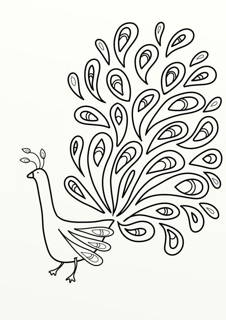 Hard Peacock Coloring Pages