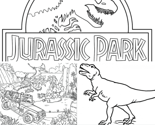 Image Collection Jurassic World Coloring Pages