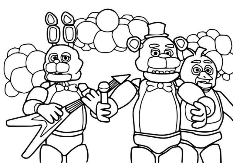 fnaf world coloring pages