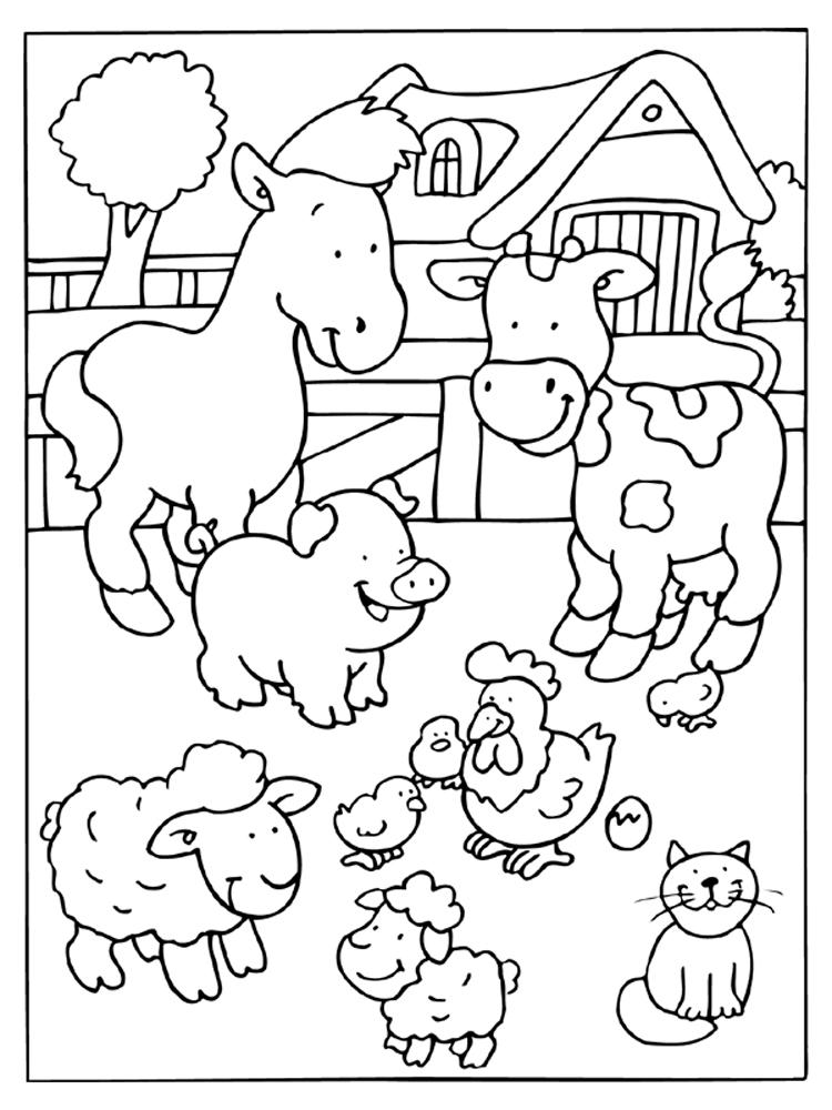 Barnyard Animals Coloring Pages