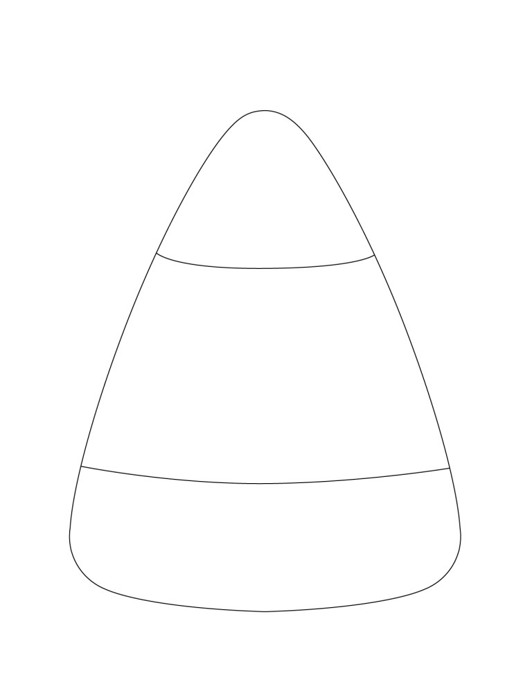Candy Corn Coloring Page To Free Printable Online