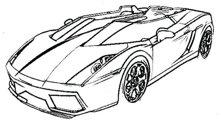 Car Coloring Pages Photo
