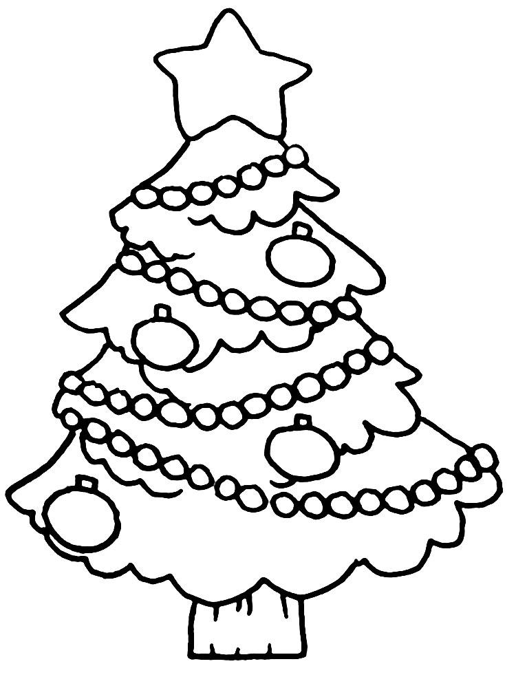 Christmas Tree Drawing Printable