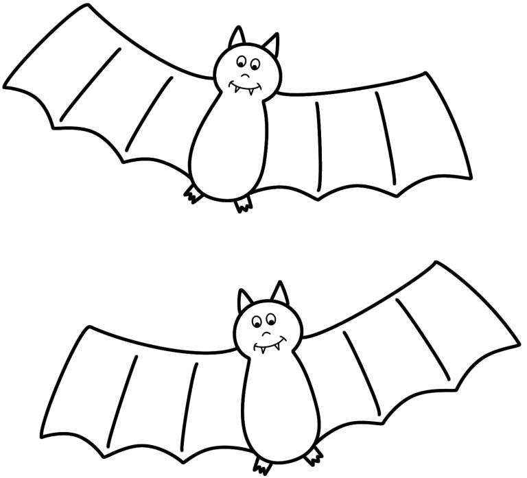 Cute Bat Coloring Pages Picture