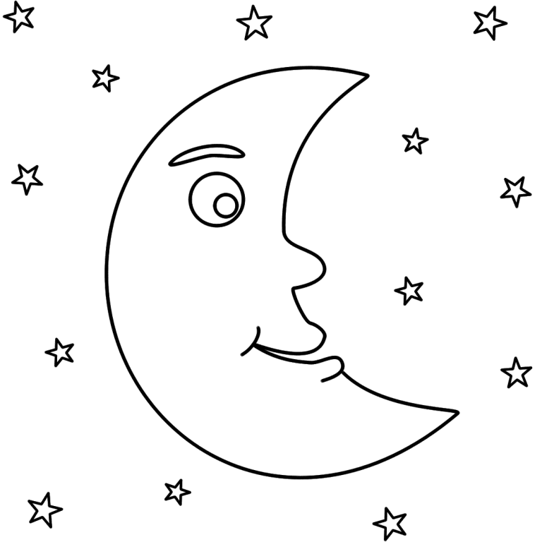 Cute Sun And Moon Coloring Pages Online