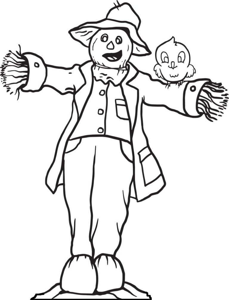 Free Download Scarecrow Coloring Page Collection