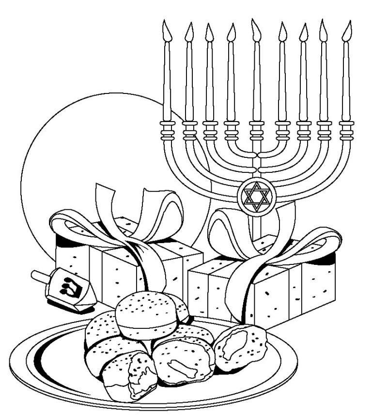 Free Hanukkah Coloring Pages