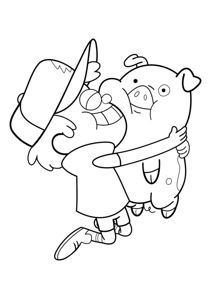 Gravity Falls Coloring Pages To Print