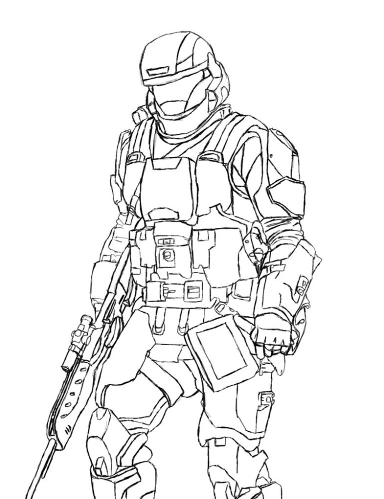 Halo Elite Coloring Pages
