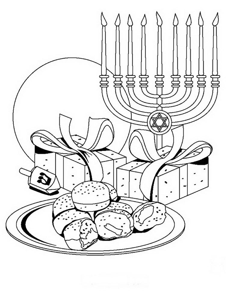 Hanukkah Free Coloring Pages