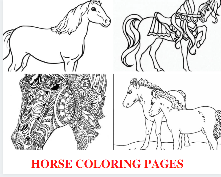Horse Coloring Pages Picture