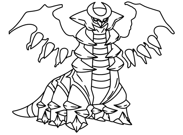 Legendary Pokemon Coloring Pages Printable