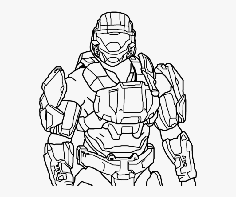 New Halo Coloring Pages Printable Online