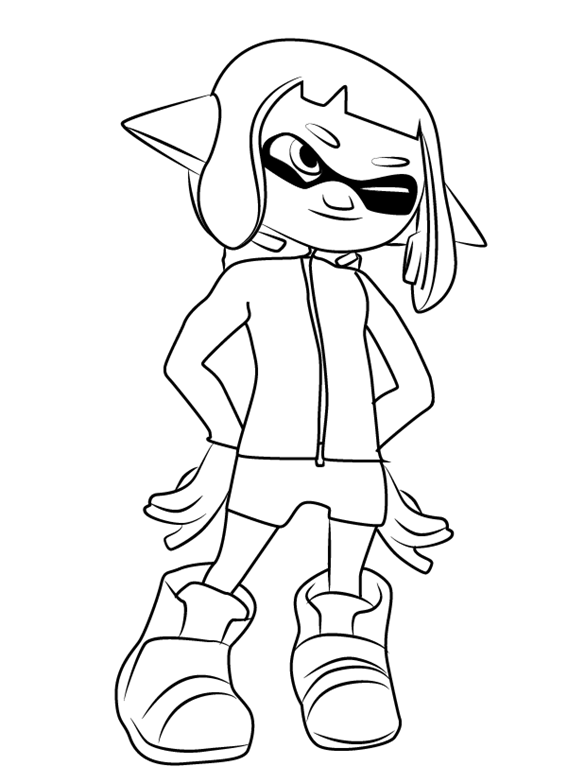 Octoling Splatoon Coloring Pages