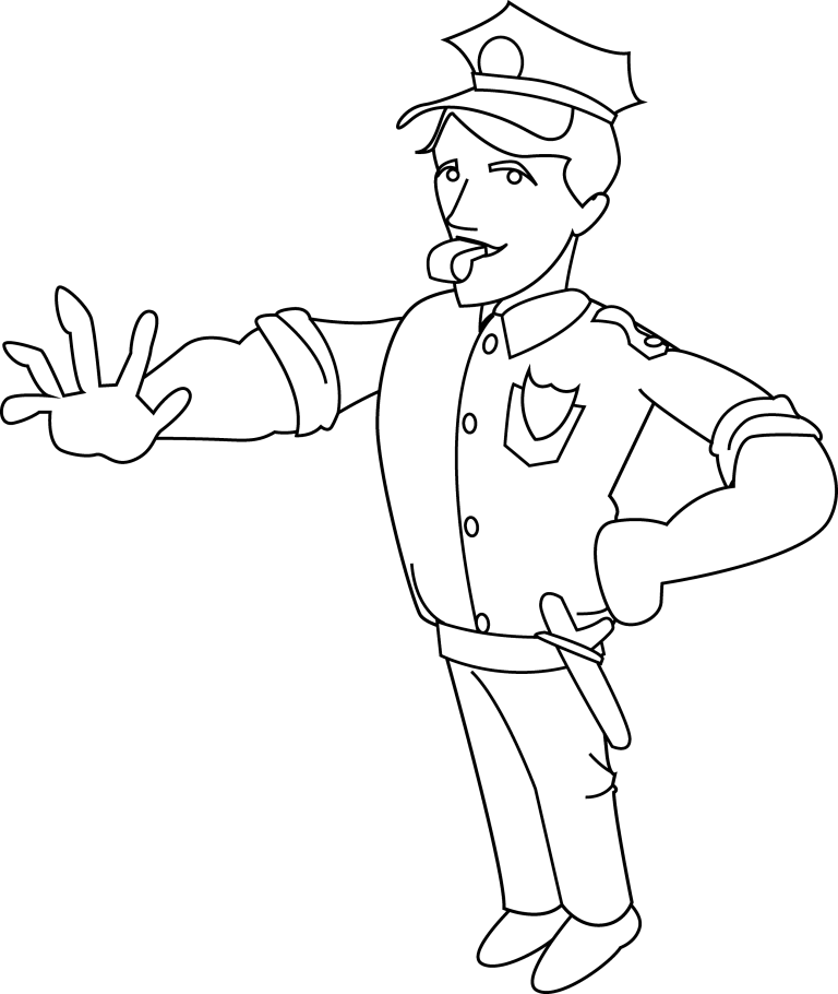 Police Coloring for Free Download