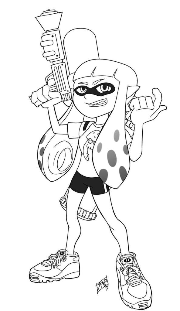 Splatoon Coloring Pages For Kids