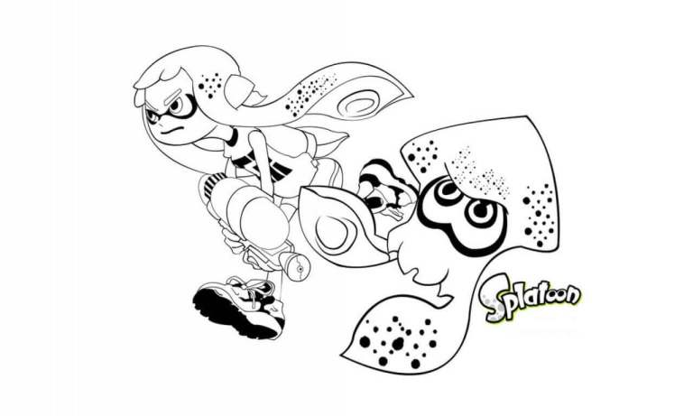Splatoon Coloring Pages Image Free Download
