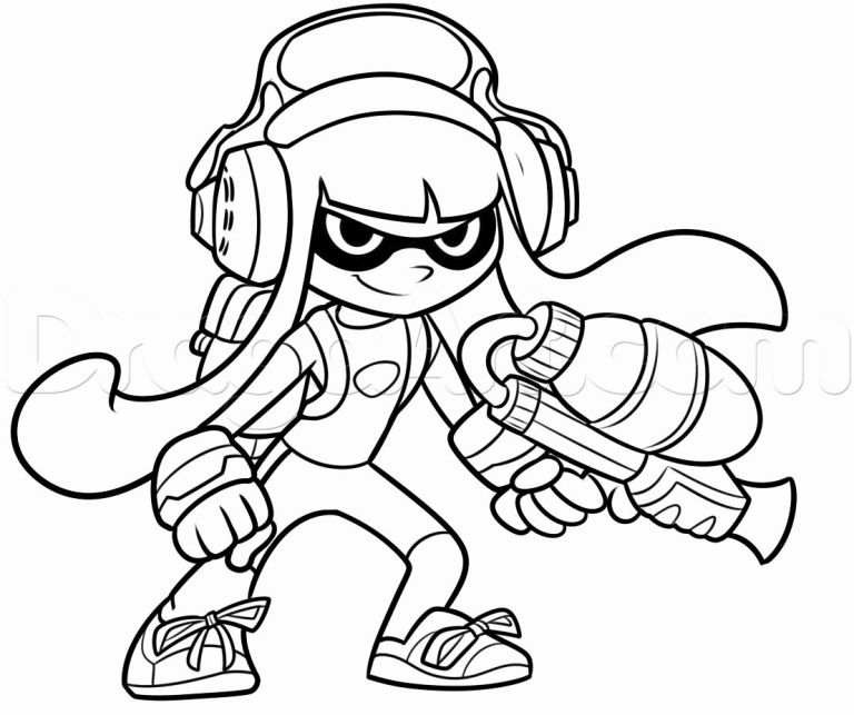 Splatoon Two Coloring Pages