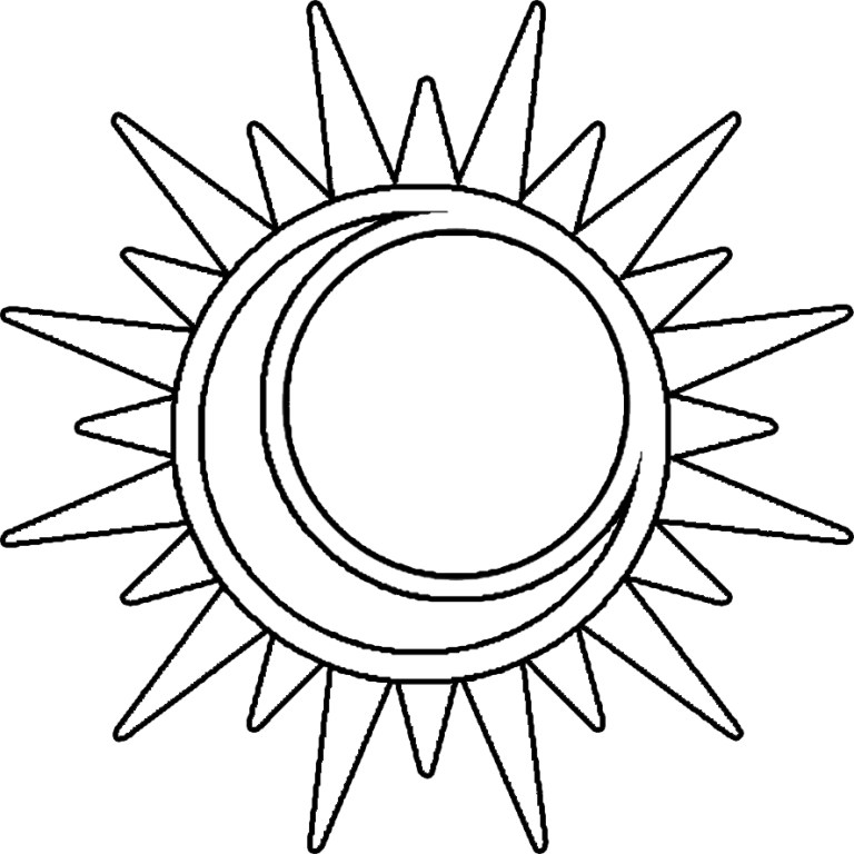 Sun Moon Coloring Pages Pictures