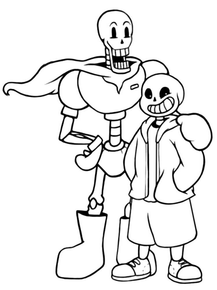 Undertale Characters Coloring Pages