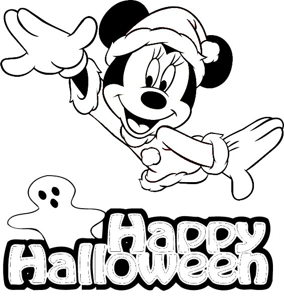 Disney halloween coloring pages postcards pictures