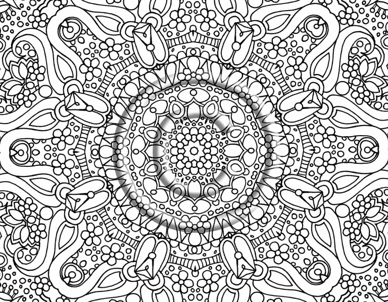 mandala flower coloring pages