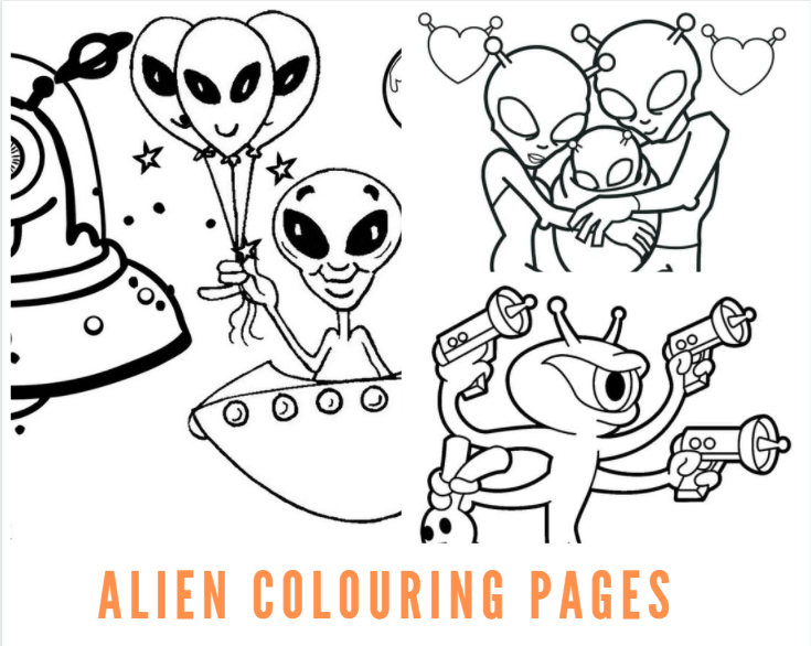 Alien Colouring Pages