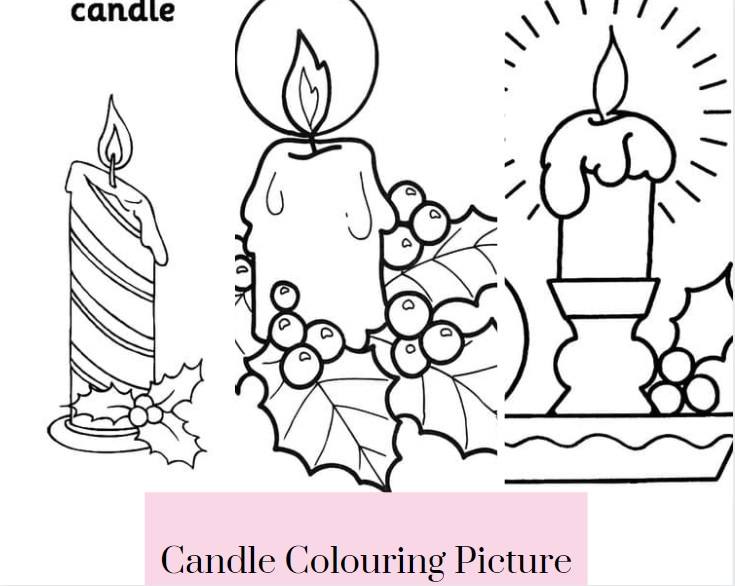 Candle Colouring Picture