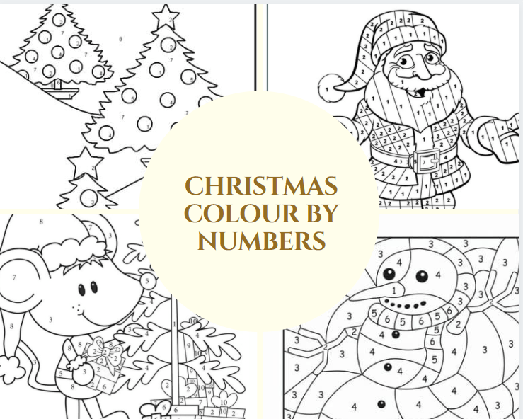 Christmas Colour By Numbers