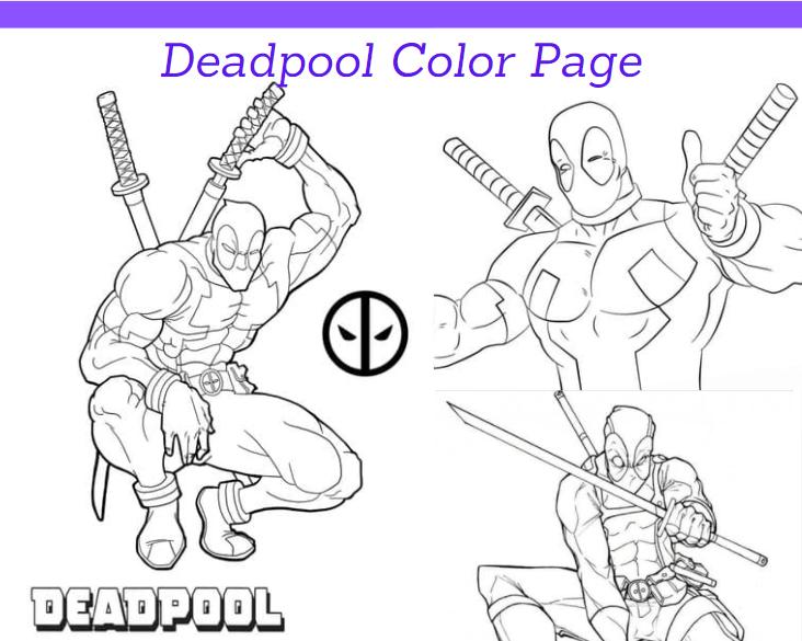 Deadpool Color Page