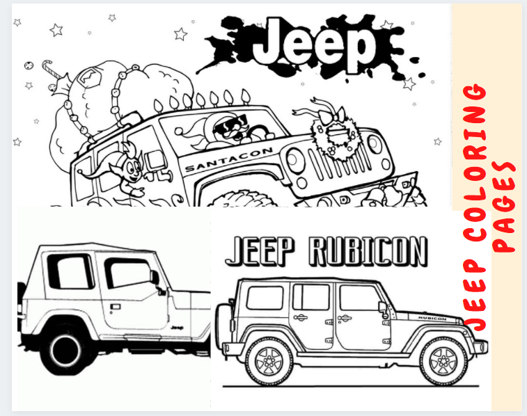 Jeep Coloring Pages