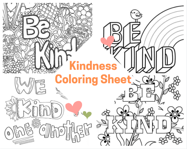 Kindness Coloring Sheet