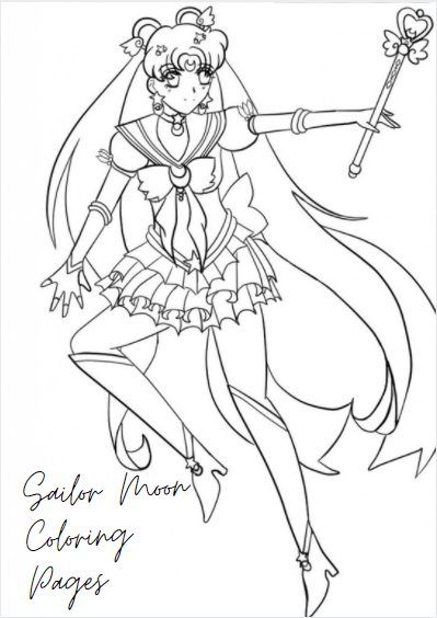 Sailor Moon Coloring Pages For Adults