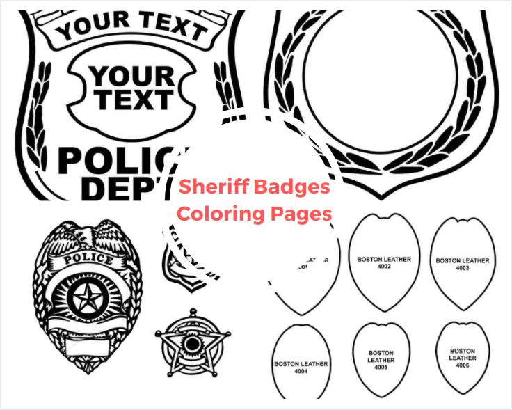 Sheriff Badges Coloring Pages