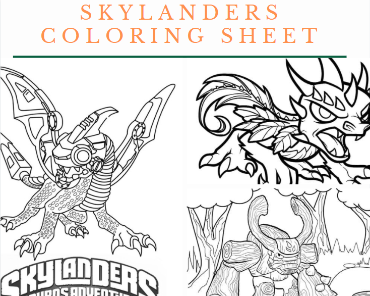 Skylanders Coloring Sheet