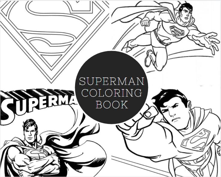 Superman Coloring Book