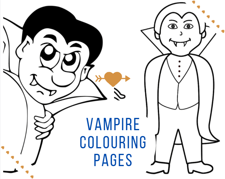 Vampire Colouring Pages