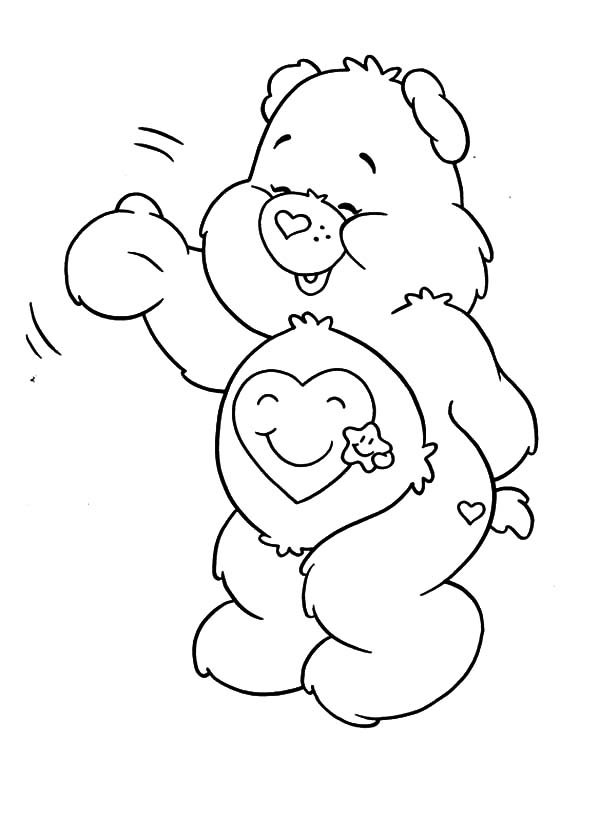 A Simple care bears coloring pages best place for girls