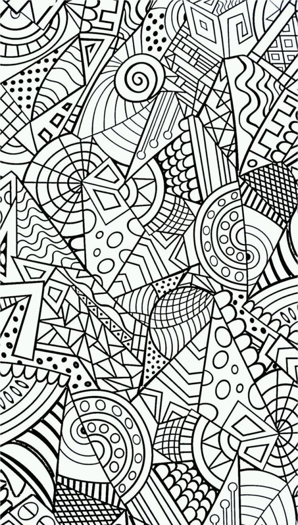 abstract adult coloring wallpapers print