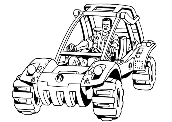action man turbo Jeep Coloring Pages