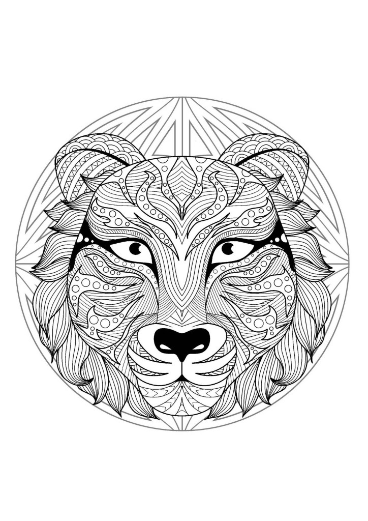 animal mandala coloring pages for adults