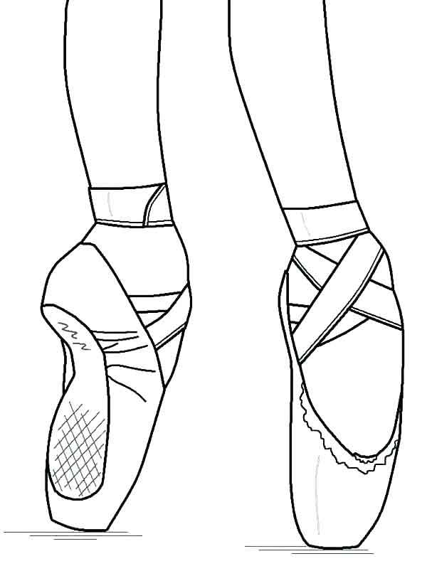 ballet coloring pages pointe shoes to printables