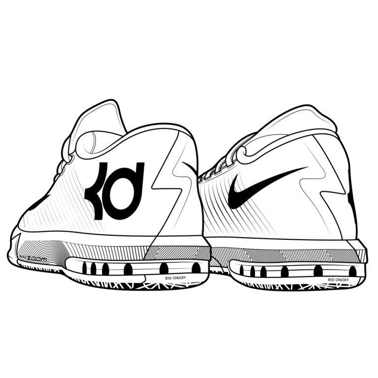 basketball shoe coloring pages download and print for free online