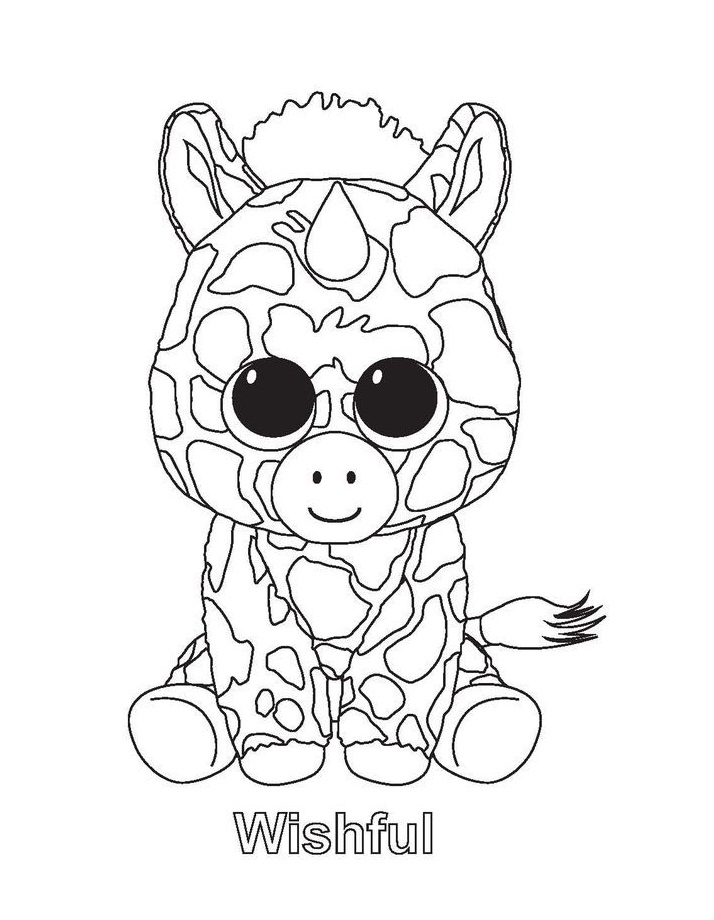 Beanie Boo Coloring Page