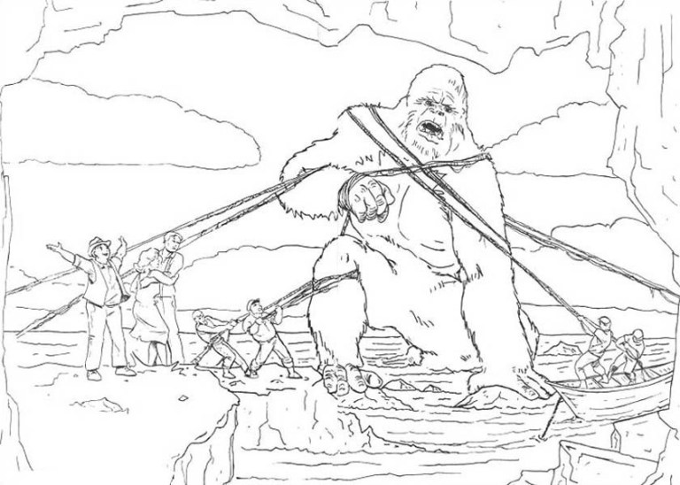 big king kong coloring pictures