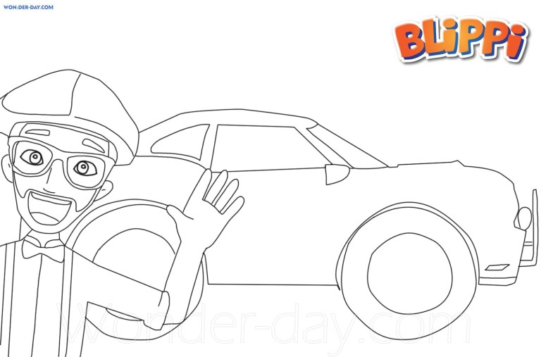 Blippi Pictures To Print
