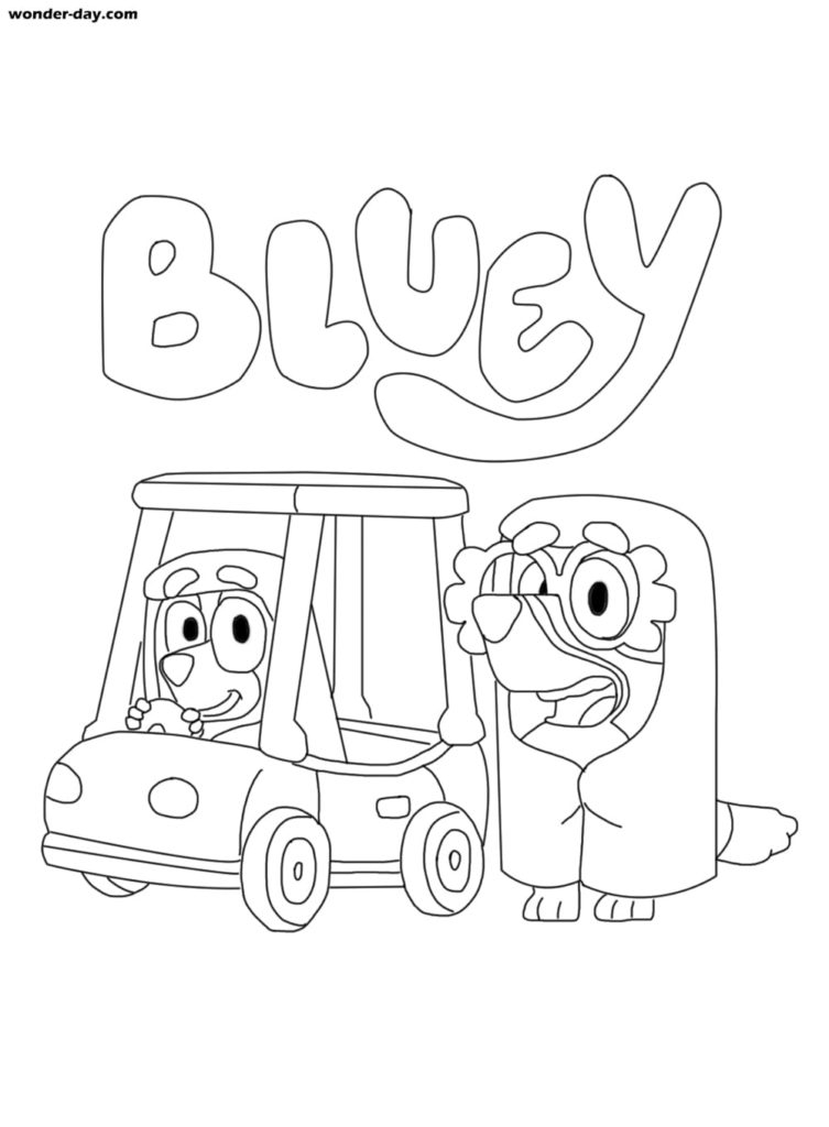 Blue Coloring Pages